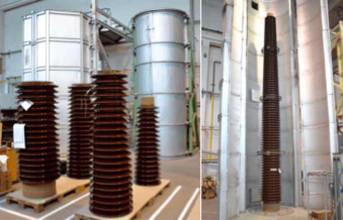 porcelain insulator Porcelain Insulator Plant Invests in Expanded Production Capabilities Sections glued and cured to achieve required length of insulator
