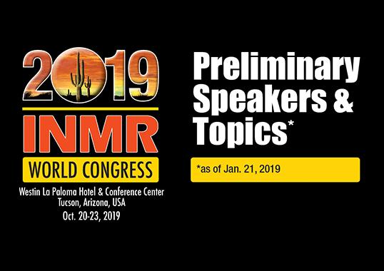 2019 inmr world congress Plan to Attend the 2019 INMR WORLD CONGRESS 2019 WC