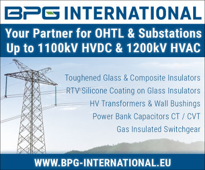 BPG International Advertisement dc line Shielding Electrodes for AC & DC Line Insulators BPG logo