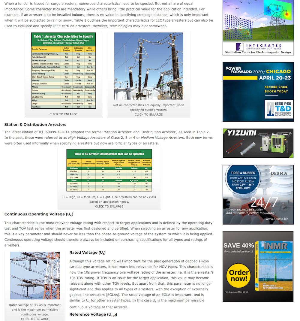 Search Technical Articles at INMR.com Technical Articles Access Technical Articles by Experts on Surge Arresters inmr arresters