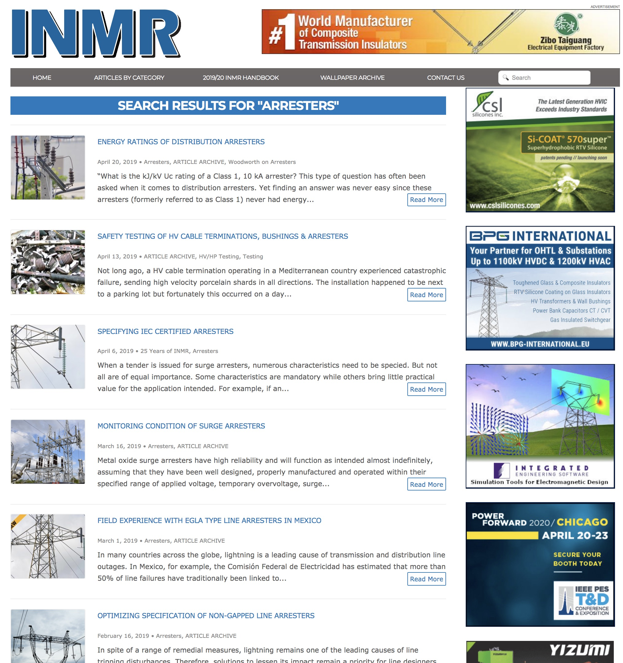 Technical Articles Access Technical Articles by Experts on Surge Arresters inmr