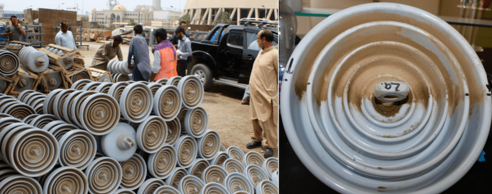 Expanding Grid in Pakistan Confronts Challenges of Pollution, Icing & Lightning (Part 1 of 2) First Application of RTV Silicone Coating 1