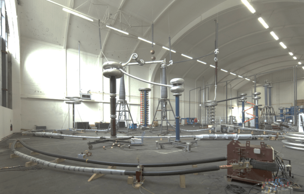 Testing 320 kV HVDC XLPE Cable Systems Test set up of 320 kV DC cable system