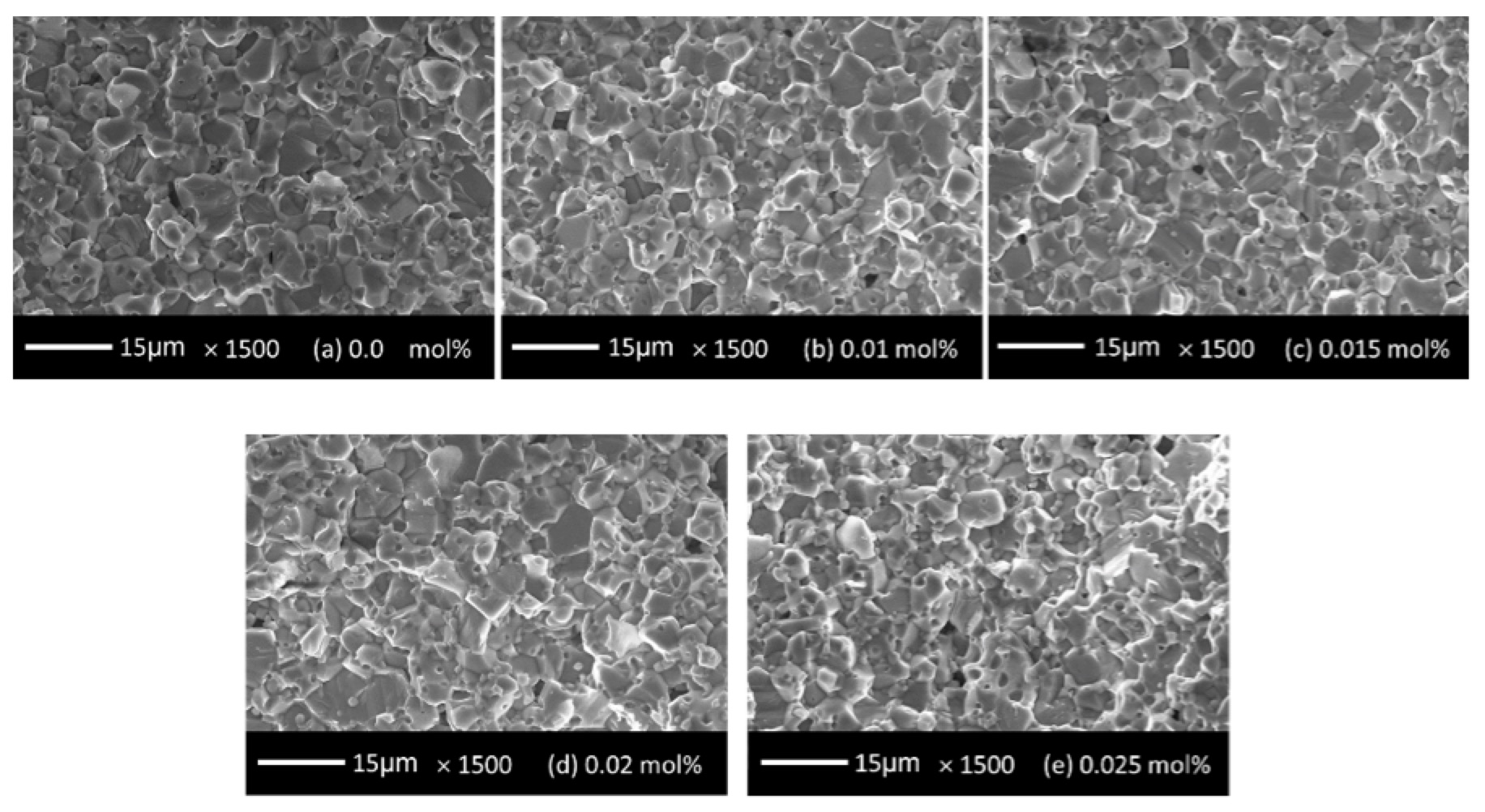 Arrester Technology: Lessons Learned, Developments to Watch SEM images of alternative improved ZnO resistor formulations prepared with various contents of indium