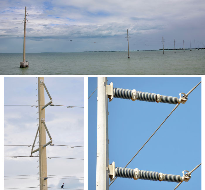 The 138 kV transmission line investigated as part of the contracted inspection program runs about 140 miles (200 km) and follows a highway linking south Florida with the Keys infrared inspection Infrared & UV Inspection of Overhead Transmission Lines: Experience in Florida, USA 138 kV transmission line