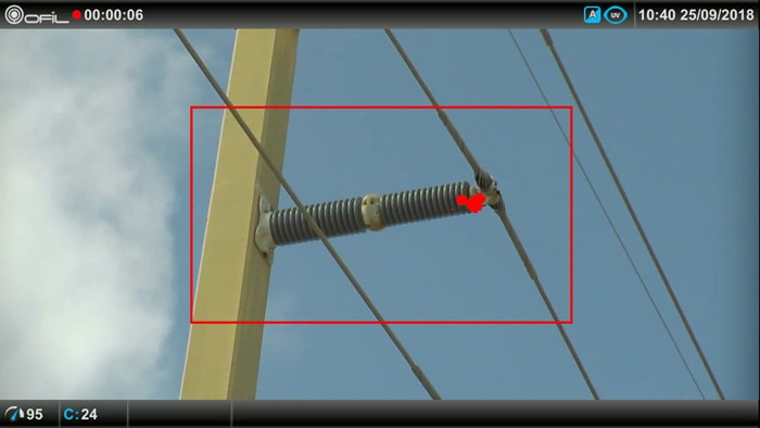 ceramic insulator with corona activity infrared inspection Infrared & UV Inspection of Overhead Transmission Lines: Experience in Florida, USA ceramic insulator with corona activity