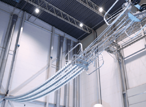 DC Dielectric & Pollution Testing Set up for tension string in high voltage hall