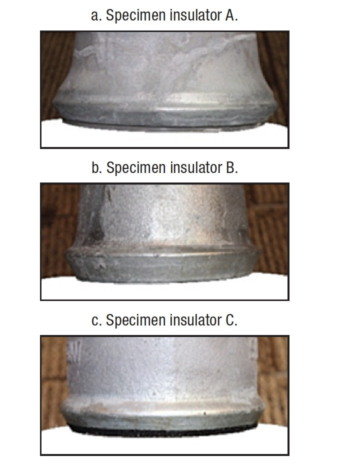 Overcoming Corrosion of Hardware on Suspension Insulators for UHV DC Lines Zinc rings installed on different structure insulators