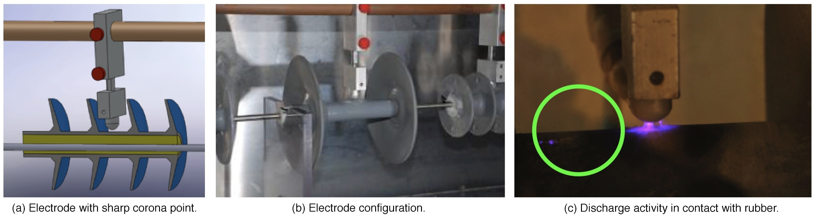 polymer insulator Small-Scale Test Chamber & Criteria for Evaluating Polymer Insulators Electrodeelectrode configuration corona discharge in contact with rubber material