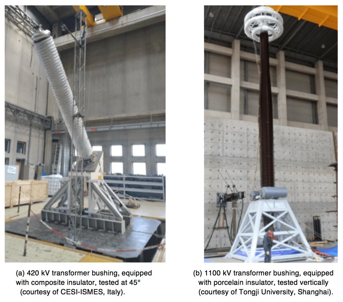 uhv bushings Review of External Insulation for EHV & UHV Bushings Bushings under seismic testing