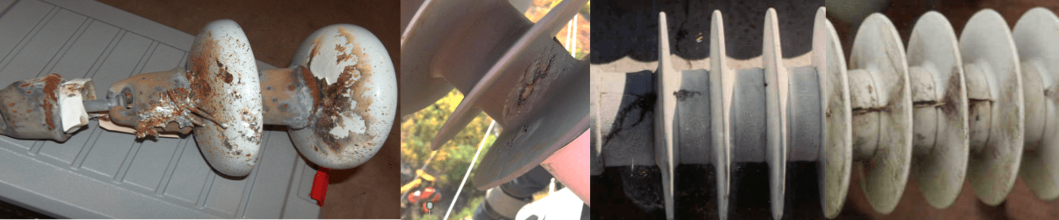 transmission insulation Practical Guidelines for Visual Inspection & Condition Assessment of Transmission Insulation Examples of damage from lightning strike flashover and flashunder