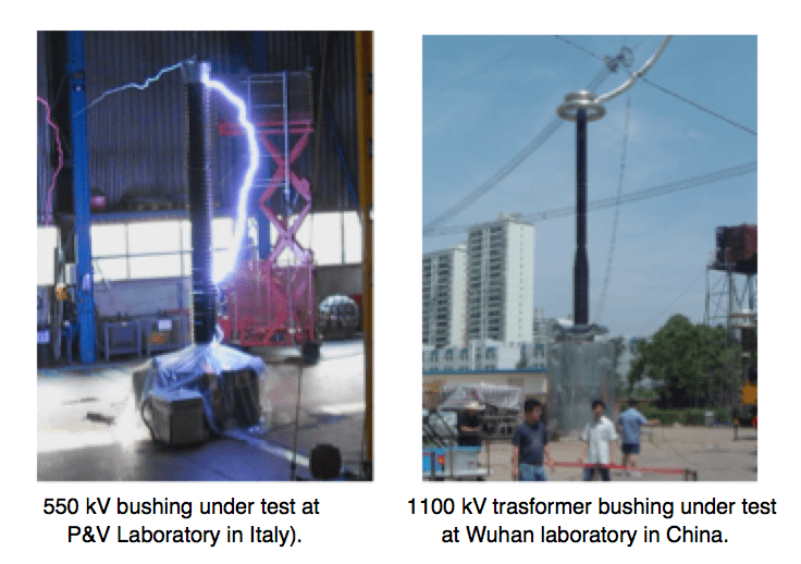 Examples of overvoltage test set-ups. Testing External Insulation for EHV & UHV Bushings