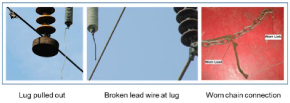 arrester arrester Testing Connection Leads for Transmission Line Arresters Typical NGLA lead failures