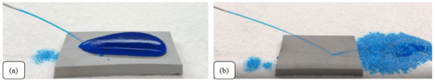 Self-Cleaning Properties of Super-Hydrophobic Silicone for High Voltage Insulators Functionality of a smooth silicone rubber and b super hydrophobic silicone rubber surface against water jet impact