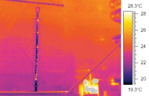 Thermal signature of partially defective composite insulator at line voltage after flashunder development. condition monitoring Asset Condition Monitoring & Diagnostics Pic311 300x193