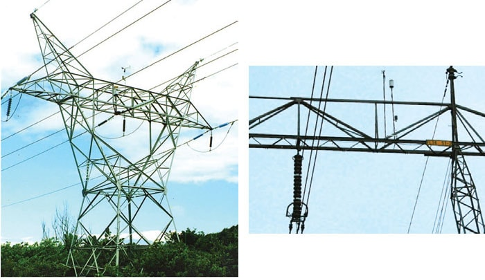 Leakage current device installed in South Africa (left) and Norway (right) allows continuous sampling of leakage currents on 9 energized insulators and can record peak currents (positive and negative), average currents (positive and negative), RMS currents, accumulated charge and energy loss. pollution monitoring Pollution Monitoring for Better Selection of Insulators in Contaminated Service Conditions p4