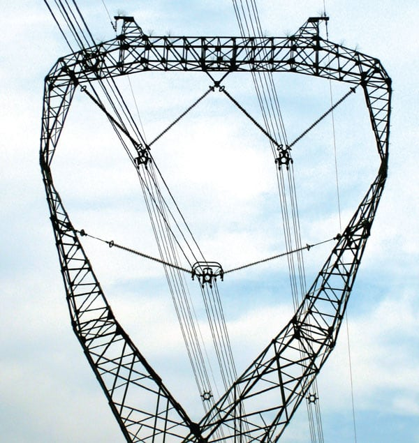 V-string composite insulator transmission structure The World's Remarkable Transmission Structures Pic12