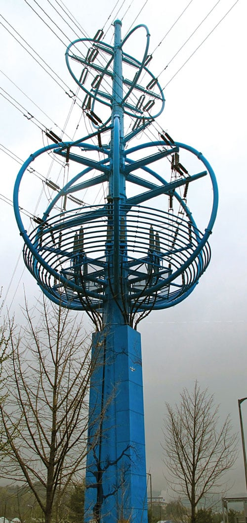 Cable Tower in Korea transmission structure The World's Remarkable Transmission Structures Pic6