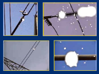 Examples of corona detected on insulators, conductor and busbar. corona Corona Camera Supplier Extends Product Range Screenshot 2014 07 14 12