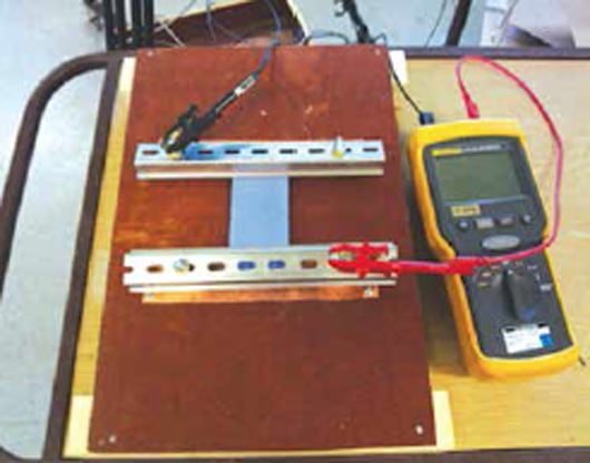 Fig. 7: Set-up for resistance measurements. hv insulator Effect of Volcanic Ash on Outdoor Insulators ma