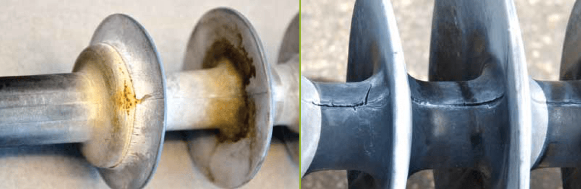 composite insulator Comparison of Methodologies to Detect Damaged Composite Insulators Two types of damaged insulators removed from transmission lines in western Canada are apparent by visual inspection alone