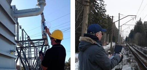 Acoustic inspection (Photo: Courtesy ndb Technologie).Ultraviolet corona camera inspection. inspection line Comparing UV & IR Inspection of Lines & Substations Acoustic inspection