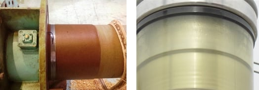 Fig. 10: Degradation of seal and moisture ingress. hv bushing Experience in Mexico Evaluating HV Bushings Retired from Service degradation