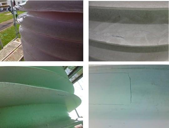 400 kV transformer insulation before coating. rtv silicone coating Applying RTV Silicone Coatings to Restore Degraded Composite Housings Degradation of 400 kV transformer