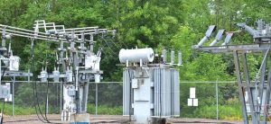 Substations bordering wooded areas face greatest risk of intrusion by birds and carnivores. substation Protective Devices Installed to Reduce Wildlife Outages at Distribution Substation Topic 5 Nov02 300x138