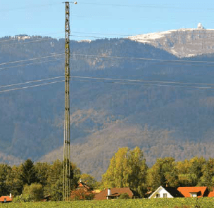 Special 400 kV compact towers offer less obtrusive profile in scenic lakeside environment of farms and vineyards compared to traditional lattice towers. compact design allowed line upgrade under severe restrictions Compact Design Allowed Line Upgrade Under Severe Restrictions Screen Shot 2016 05 20 at 12