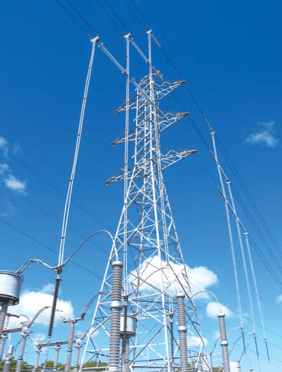 Huapi Substation near Auckland employs unique phase-to-phase insulation arrangement that allows full-scale tower to be sited at center of switchyard. under hung busbar Utility Developed Under Hung Busbar As Step Toward New Substation Design Screen Shot 2016 02 25 at 2