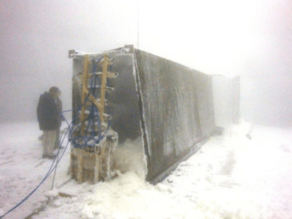 Fig. 9: Wind tunnels placed in large climatic chamber flashover voltage Evaluating Flashover Voltage Properties of Snow Accreted Transmission Insulators Screen Shot 2016 02 26 at 11