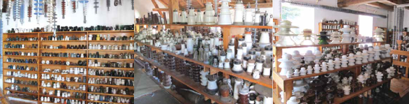 These shelves, stuffed with insulators of every size, shape and description, represent a mere 10 percent of Frantisek's entire collection. A Passion for Insulators A Passion for Insulators Screen Shot 2016 04 04 at 9