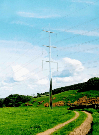 """Fig. 2: 400 kV """"Camouflage Pole' (Europoles Contribution to RIBA/ National Grid Design Competition). pole design Pole Designs Optimize Aesthetics, Feasibility & Cost Screen Shot 2016 04 06 at 3"""