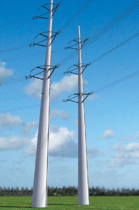 Figure 5: architect's impression of the Wintrack bi-pole design experience in the netherlands with wintrack aesthetic transmission tower designs Experience in The Netherlands with Wintrack Aesthetic Transmission Tower Designs Screen Shot 2016 04 22 at 9