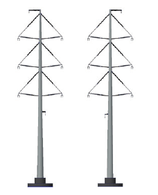 Figure 9: architect's impression of the 4 x 380 kV Wintrack towers (cf. Figures 5 and 6) experience in the netherlands with wintrack aesthetic transmission tower designs Experience in The Netherlands with Wintrack Aesthetic Transmission Tower Designs Screen Shot 2016 04 22 at 9