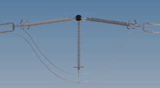 Figure 11: the hanging jumper used in the new 4x 380 kV Wintrack design experience in the netherlands with wintrack aesthetic transmission tower designs Experience in The Netherlands with Wintrack Aesthetic Transmission Tower Designs Screen Shot 2016 04 22 at 9