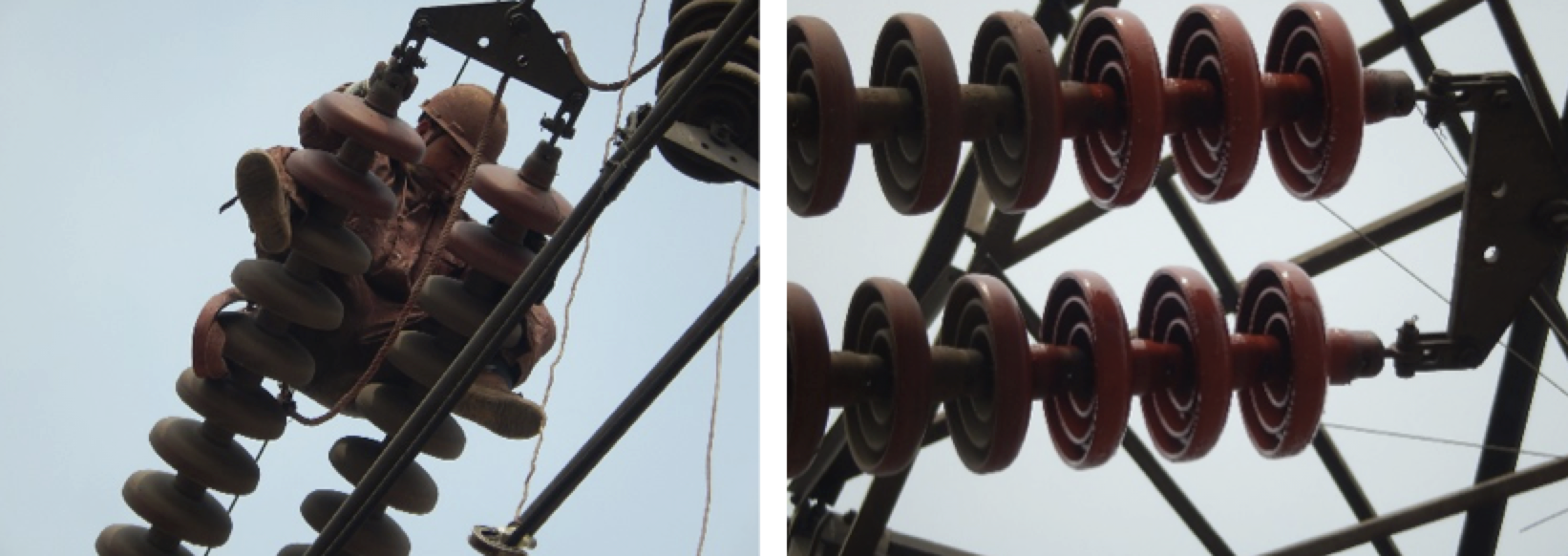 Fig. 13: Recoating in Shanxi, China. rtv coated insulators Repair & Re-Coating Techniques for Composite Housings & RTV Coated Insulators Screen Shot 2016 06 21 at 10