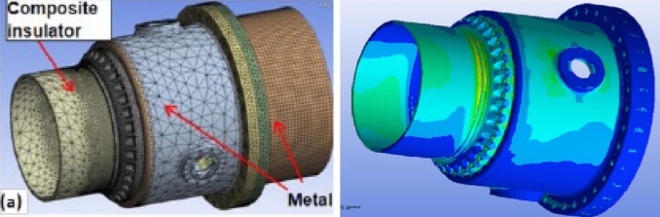 Evaluation of mechanical stress at flange of 800 kV DC wall bushing. Digital Modeling in Insulation System Design digital modeling Digital Modeling in Insulation System Design Screen Shot 2018 10 04 at 15