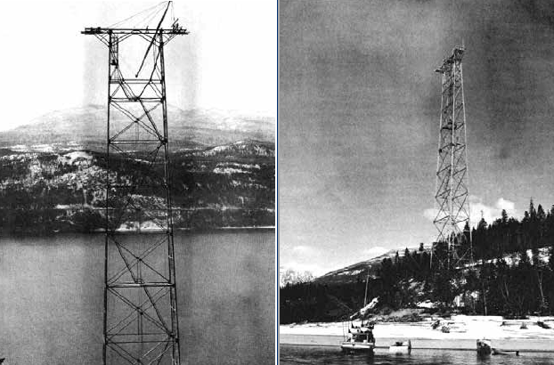 366 ft. (112 m) tower was among world's highest transmission structures when built in early 1950s. lake crossing Ageing Lake Crossing Presents Range of Asset Management Issues Screen Shot 2016 08 26 at 09