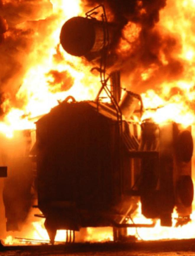 power-transformer-set-afire safety Optimizing Safety of HV & UHV Bushings Power transformer set afire