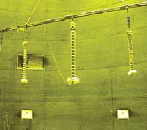 Fig. 3: Insulator set-up for icing tests voltage upgrade Norwegian TSO Re-Dimensioned Insulation in Voltage Upgrade Project Screen Shot 2016 09 16 at 13