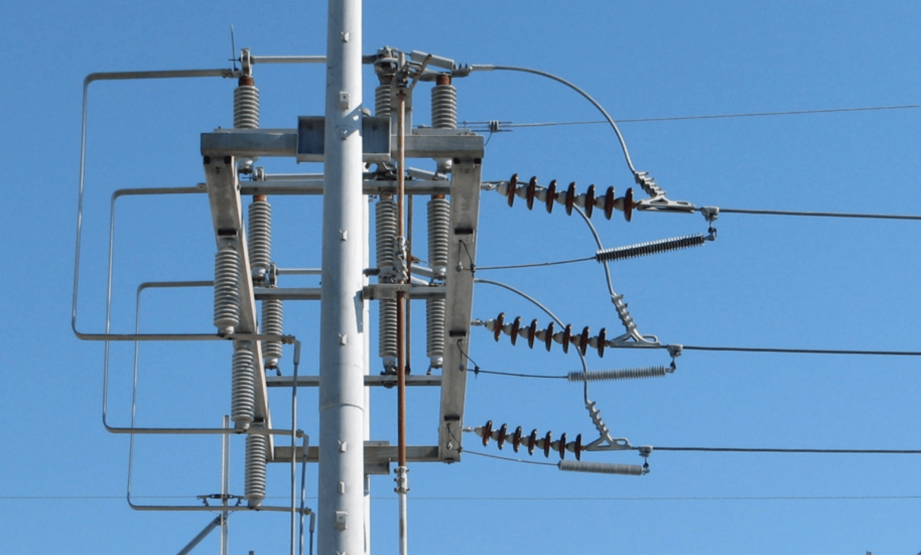 Fig. 6: TLSAs used here as line entrance arresters to protect open breaker.