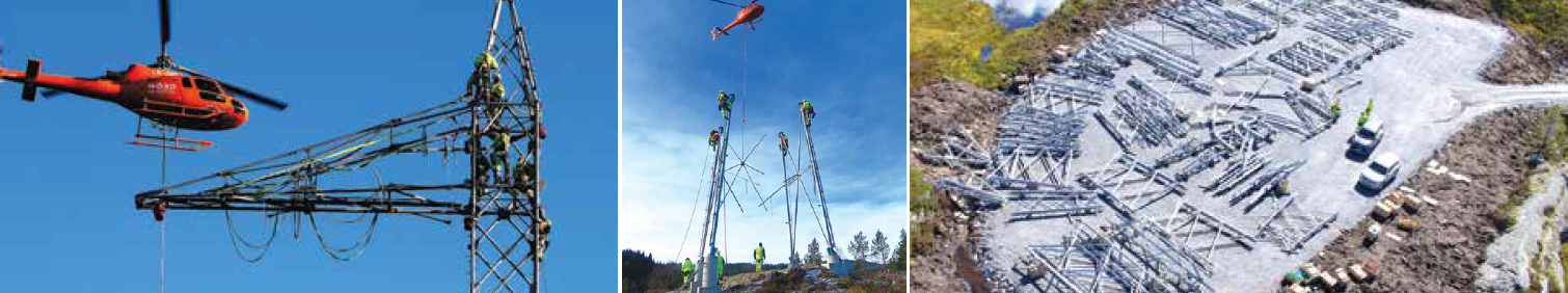 Assembly site allows elements to be re-assembled on ground and then airlifted to tower. [object object] Network Expansion at Norwegian TSO (Part 2 of 2) Assembly site