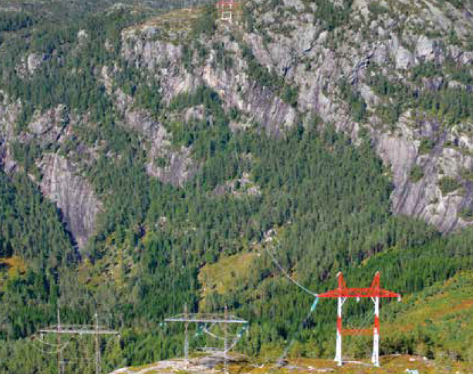 Longest single span for new triplex 420 kV line and new 525 kV HVDC line is 1300 m. [object object] Network Expansion at Norwegian TSO (Part 2 of 2) Longest single span