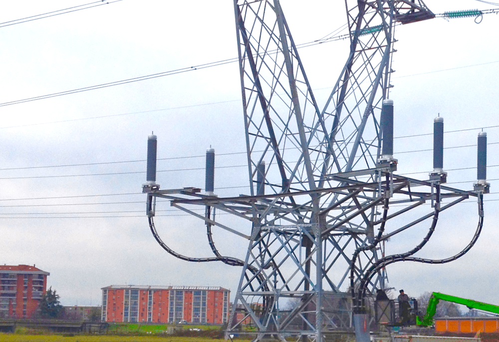 245 kV cable termination system installed near highway. cable termination Explosion-Resistant Cable Terminations Photo for Topic 4 May 23 1