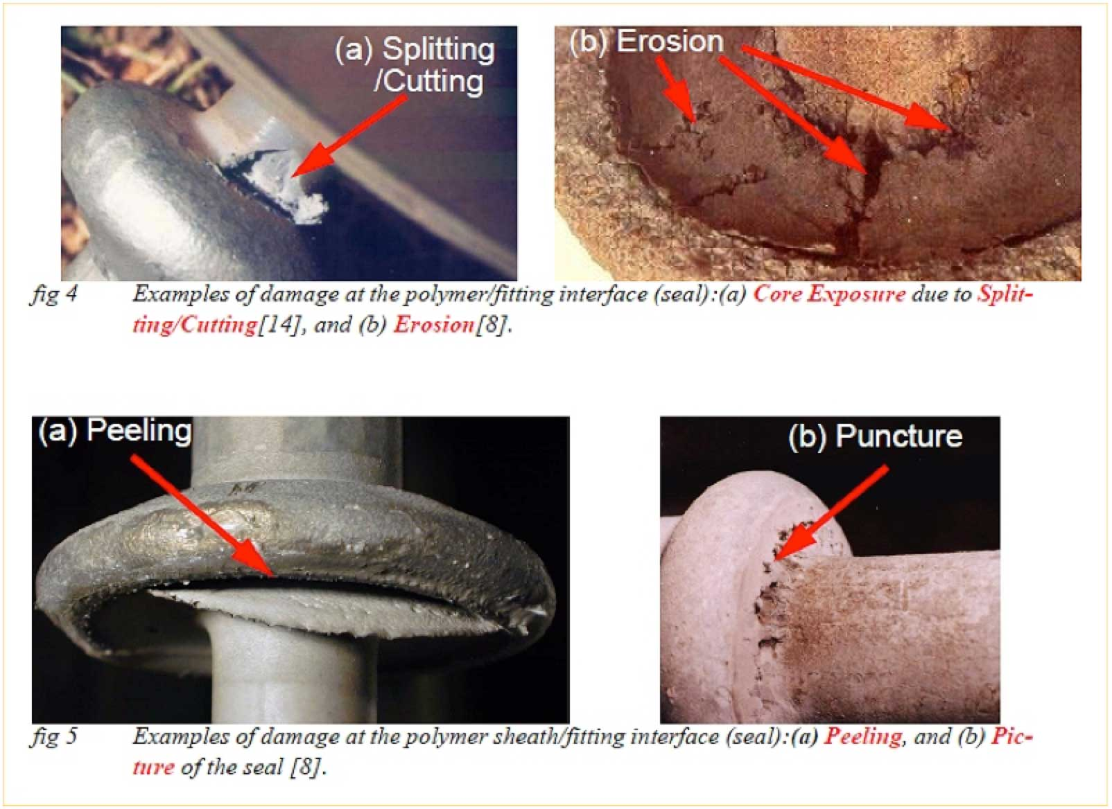 composite insulator Comparison of Methodologies to Detect Damaged Composite Insulators Photos serve as examples of types of damage that can be detected visually