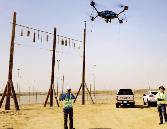 Piloted drones such as this can fully inspect a tower in only about 15 minutes. energy security Maintenance Strategy Designed to Support Gulf Regional Energy Security Screen Shot 2017 09 08 at 13