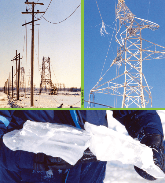 Ice storm in January 1998 brought down both transmission and distribution lines due to massive ice accretion on conductors. line hardware Assessing Performance of Different Conductor & Line Hardware Configurations Screen Shot 2017 09 15 at 11