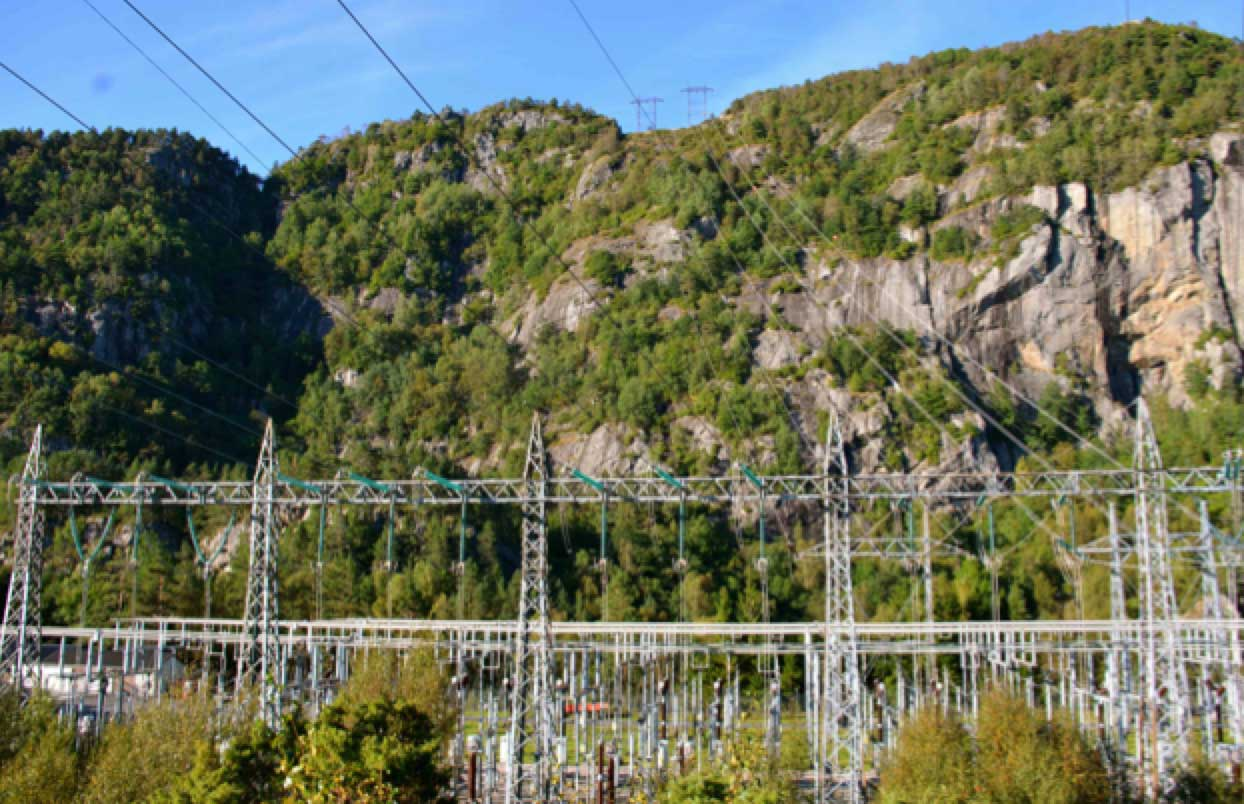 [object object] Network Expansion at Norwegian TSO (Part 2 of 2) 400 kV lines drop into Feda Substation near Tonstad
